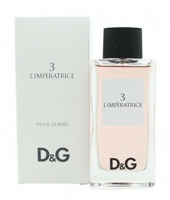 Dolce & Gabbana D&g 3 L'imperatrice Eau De Toilette 100Ml Spray - Women's. New