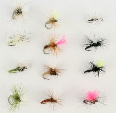 Parachutes & Kliinkhammers, BARBLESS Assorted Dry Selections,Trout Fishing Flies
