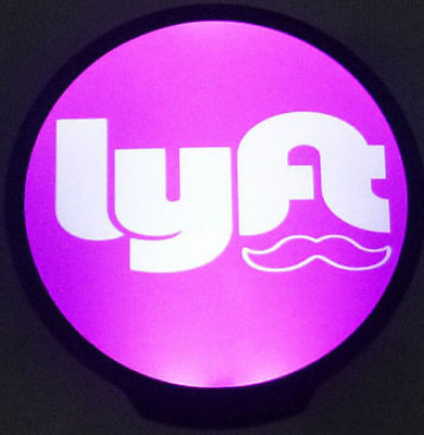 LYFT Bright Sign Glowing LED Light Signs Car Cab Driver Logo Window Windshield