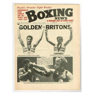 Boxing News Magazine July 31 1970 MBox3421/F Vol.26 No.31 Golden Britons