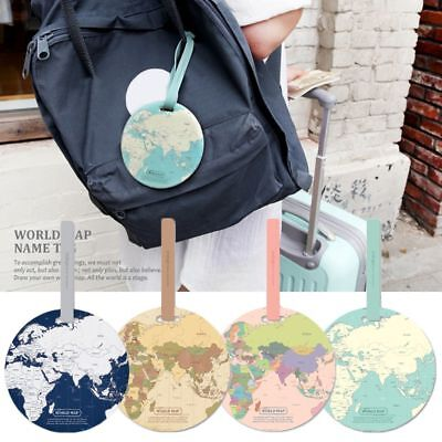 Holder Travel Accessories Suitcase Label Bag Tags Boarding ID World Map