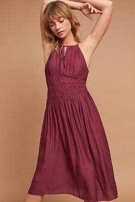 9dbcc898ad076 NWT Anthropologie Smocked Halter Midi Dress by Moulinette Soeurs Size 0