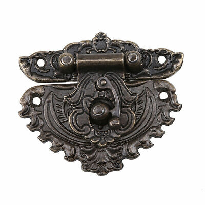 US Vintage Jewelry Box Hasp Latch Lock Buckles Heart Shaped Cabinet Decorative