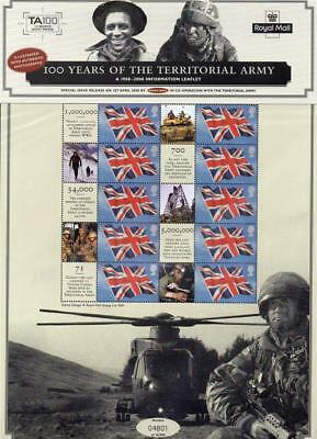 Gb Mnh 2008 Royal Mail Commemorative Sheet - 100 Years Of The Territorial Army