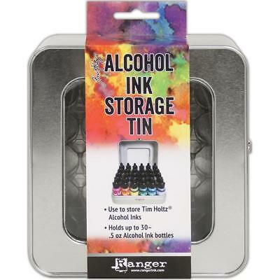Tim Holtz ~ Alcohol Ink Storage Tin ~ Holds up to 30 Bottles Alchohol Inks