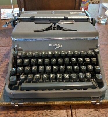 1950s Hermes 2000 portable typewriter