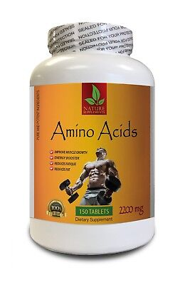 Sport Supplements - AMINO ACIDS 2200mg - Energy Booster - 1 Bottle 150 Tablets