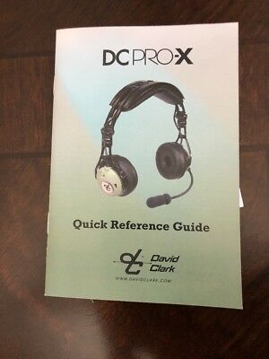 Brand New David Clark DC Pro X headset Note 5 Pin For Commercial Use