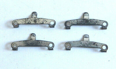 4 x Hornby Dublo axle hanger for bogie wagons, early silver finish, spares