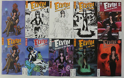 10 x Sexy ELVIRA Mistress of the Dark COMIC # 1 VARIANT Cover SET NM/UNREAD