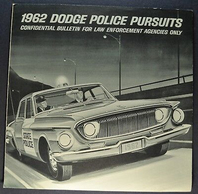 1962 Dodge Police Pursuit Car Catalog Sales Brochure Excellent Original 62