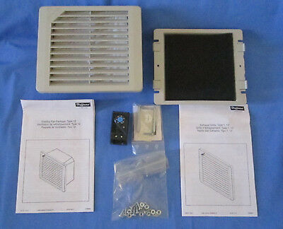 """Hoffman A-4AXFN 4"""" Fan 115 Volt New Open Box With Filters & Thermostat No Gasket"""