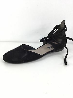 72e656fcbc1 1344 Paul Green Lydia Black Suede Lace Tie Flats Women s Size 4 UK 6.5 US