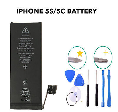 New Genuine deji Replacement Battery for Apple iPhone 5c 5s 1560 mAh Free Tools