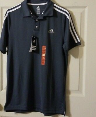 Adidas Boys Short Sleeve Athletic Polo Shirt ) Size M 10-12