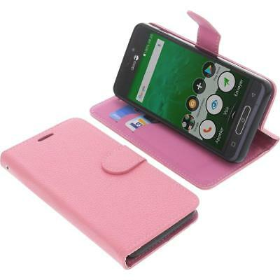 Cover for Doro 8035 book-style pink case