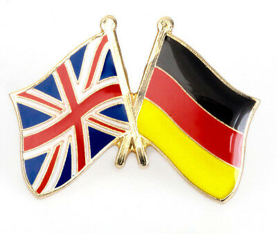 UK & GERMANY FRIENDSHIP Flag Metal Lapel Pin Badge Great Britain DEUTSCHLAND