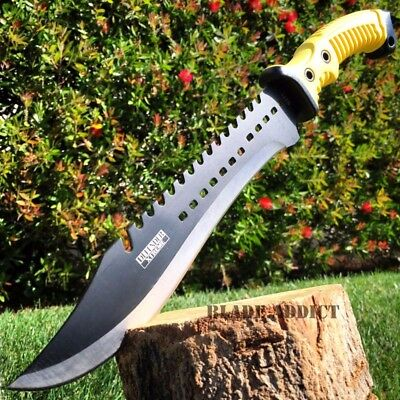 """15.5"""" TACTICAL HUNTING SURVIVAL FIXED BLADE MACHETE Rambo Knife Sword Camping"""