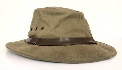 0ff262c07f324 Genuine Filson Garment Seattle Tin Cloth Packer Hat Otter Green 11060015  Large