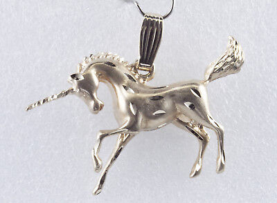 "Unicorn Pendant 14K Yellow Gold 3 Dimensional 8.2 Grams 1 3/4"" Wide WHOLESALE"