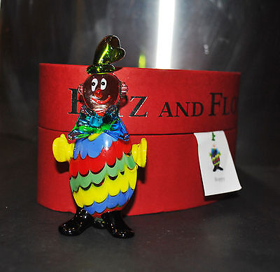 NEW FITZ & FLOYD GLASS MENAGERIE BOPPY Clown Figurine Ltd Edt Gift BOX