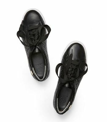 5ed1b9706 NIB! TORY BURCH Black Marion Quilted Lace up Sneaker -  158.00 ...
