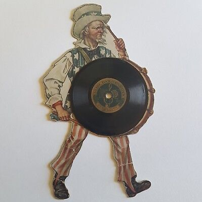 TALKING BOOK CORPORATION Uncle Sam Record Die Cut JULY 4th Find Rare 1918