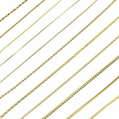 16-30'' 18K Gold Plated Curb Belcher Trace Figaro Chain Necklace For Women Mens