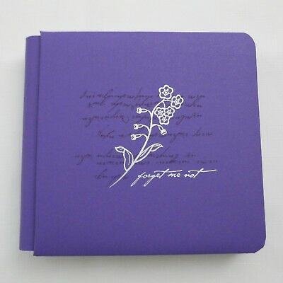 "Creative Memories 7x7 Album ""Forget Me Not"" with Pages and Protectors"