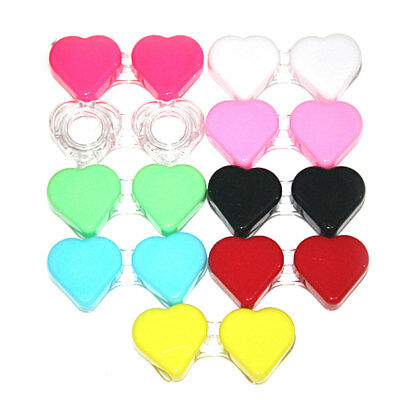 Contact Lens Box Heart Shaped Case Travel Portable Storage Container Objectives