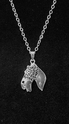 """Wire Fox Terrier Dog  Cute Necklace 18"""""""