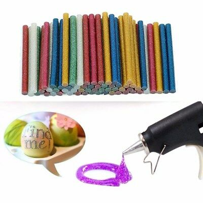 50PCS GLITTER Hot Melt Glue Adhesive Sticks Glue Gun Craft Tool Heat 7mm*100mm