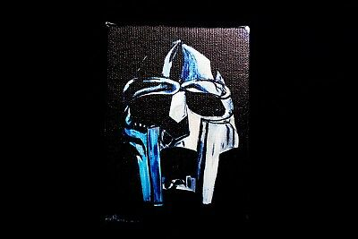 Mf Doom Canvas Print Madvillainy Hiphop Rap Emcee Mic Mask Metalface Dope Rare