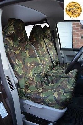 VAUXHALL CORSA D 07 ON Heavy Duty Waterproof Seat Covers Protectors Green Camo