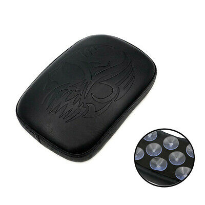 Motorcycle Skull Pillion Pad Rear Fender Seat 8 Suction Cup For Harley Touring