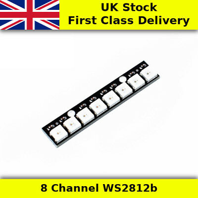 WS2812b 8 Channel RGB LED Strip  Module Arduino Raspberry Pi - UK First Class