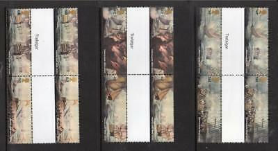 Gb Mnh 2005 Sg2574-2579 Bicentenary Of The Battle Of Trafalgar Gutter Pairs