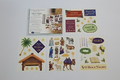 Creative Memories Holiday Silent Night Stickers Nativity Christmas