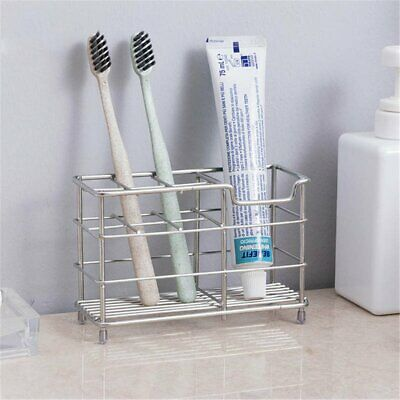 Stainless Steel Non-slip Toothbrush Holder Bathroom Organiser Toothpaste Stand