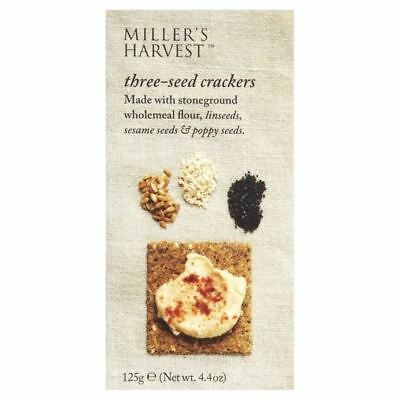 Miller's Harvest Three-Seed Crackers 125g - Pack of 6