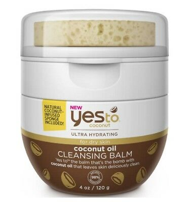 Yes To Coconut Cleansing Balm Ultra Hydtrating Makeup Remover For Dry Face Skin