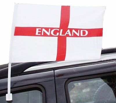 Job Lot England Football Car Flags Singles St George Cross World Cup 2018