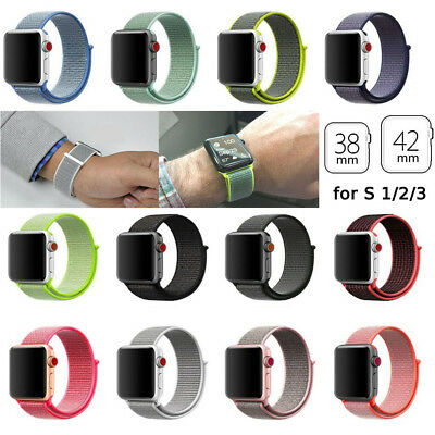 Sports Loop Band Nylon Replacement Strap For Apple Watch Series 1/2/3 iWatch NEW