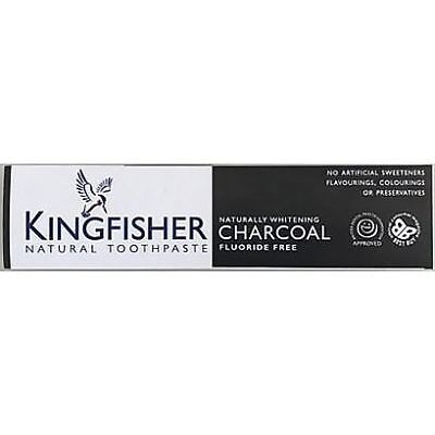 Kingfisher Charcoal Naturally Whitening Natural Toothpaste 100ml (Pack of 2)