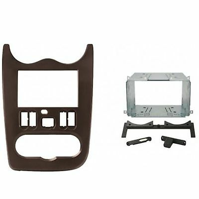Dd 187 Kit Mascherina Autoradio 2 Din Dacia Duster 10>12 Marrone Scuro Met.