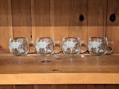 4 Nestle World Globe Map Cups/mugs