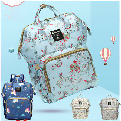 Unicorn Mummy Diaper Bags Maternity Baby Nappy Large Backpack Changing Bag
