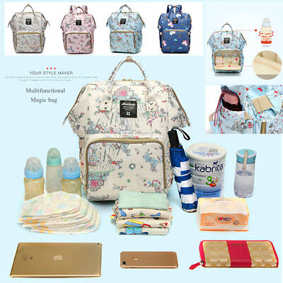 NEW Waterproof Large Mummy Baby Diaper Nappy Backpack Mom Changing Travel Bag