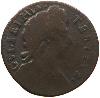GREAT BRITAIN FARTHING 1700 WILLIAM III. #t41 327