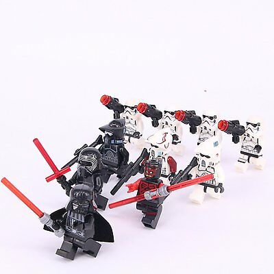 10 pcs Set Star Wars Darth Vader Darth Maul Storm Troopers fit Lego Mini figure
